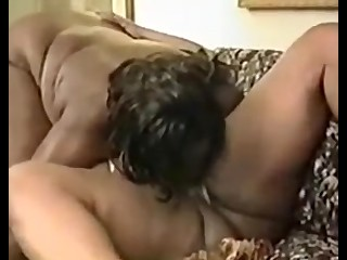 2 fat black lesbian with guy