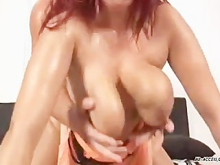 Kamila gets a cumshot on those big titties!
