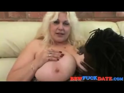 Black dude lick mega huge BBW boobs